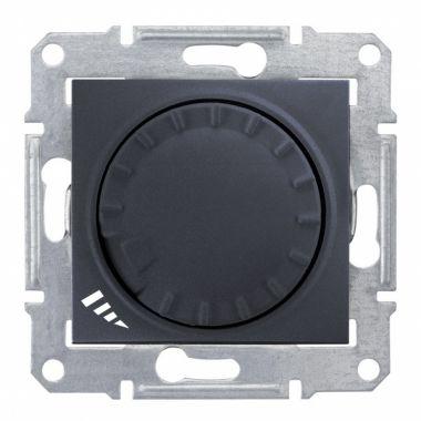 Светорегулятор (диммер) Sedna LED поворотно-нажимной, универсальный, 4-400Вт, графит Schneider Electric