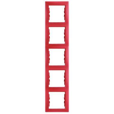 Рамка Sedna 5-постовая, вертикальная, красная Schneider Electric