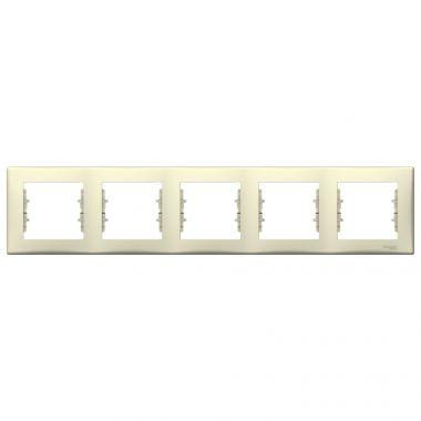 Рамка Sedna 5-постовая, горизонтальная, бежевый Schneider Electric