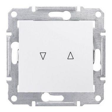 Выключатель Sedna для жалюзи с механической блокировкой, белый Schneider Electric
