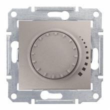 Светорегулятор (диммер) Sedna поворотный, 60-325Вт, титан Schneider Electric
