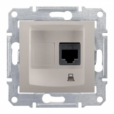 Розетка Sedna компьютерная RJ45, UTP кат.5е, титан Schneider Electric