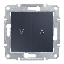 Выключатель Sedna для жалюзи с электрической блокировкой, графит Schneider Electric