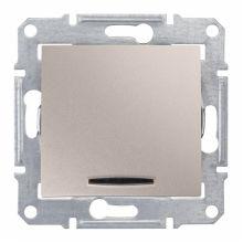Выключатель Sedna кнопочный, с подсветкой, титан Schneider Electric