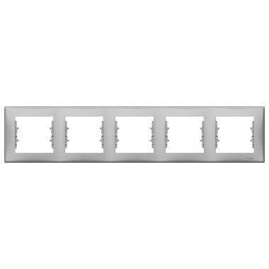 Рамка Sedna 5-постовая, горизонтальная, алюминий Schneider Electric