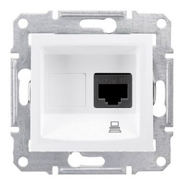 Розетка Sedna компьютерная RJ45, UTP кат.5е, белый Schneider Electric