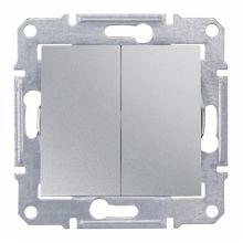 Выключатель Sedna 2-клавишный, IP44, алюминий Schneider Electric