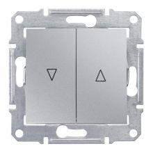 Выключатель Sedna для жалюзи с электрической блокировкой, алюминий Schneider Electric