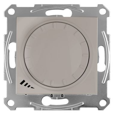 Светорегулятор (диммер) Sedna LED поворотно-нажимной, универсальный, 4-400Вт, титан Schneider Electric
