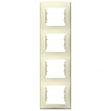 Рамка Sedna 4-постовая, вертикальная, бежевый Schneider Electric