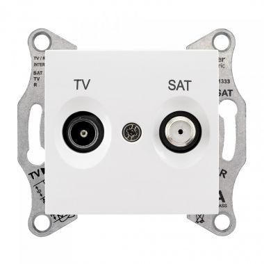 Розетка Sedna TV-SAT оконечная, 1дБ, белый Schneider Electric