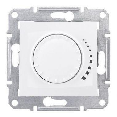 Светорегулятор (диммер) Sedna поворотно-нажимной, проходной, 25-325Вт, белый Schneider Electric