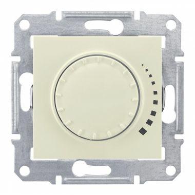 Светорегулятор (диммер) Sedna поворотно-нажимной, проходной, 60-500Вт, бежевый Schneider Electric