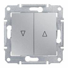 Выключатель Sedna для жалюзи с механической блокировкой, алюминий Schneider Electric