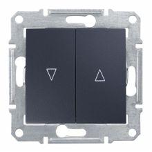 Выключатель Sedna для жалюзи  с механической блокировкой, графит Schneider Electric