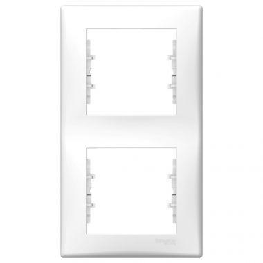Рамка Sedna 2-постовая, вертикальная, белый Schneider Electric