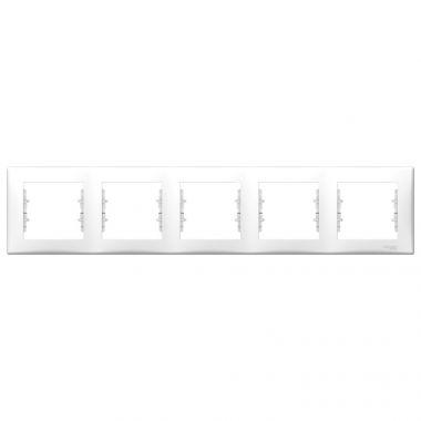 Рамка Sedna 5-постовая, горизонтальная, белый Schneider Electric