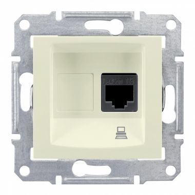 Розетка Sedna компьютерная RJ45, UTP кат.5е, бежевый Schneider Electric