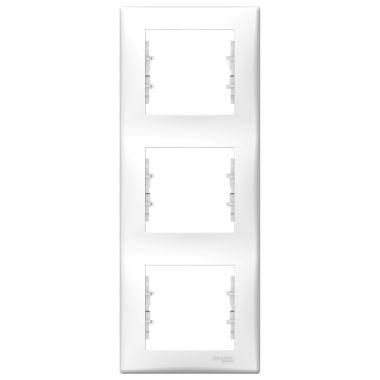 Рамка Sedna 3-постовая, вертикальная, белый Schneider Electric