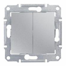 Выключатель Sedna 2-клавишный, алюминий Schneider Electric