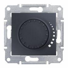 Светорегулятор (диммер) Sedna поворотный, 60-325Вт, графит Schneider Electric