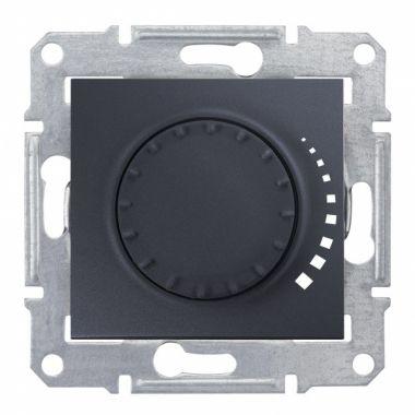 Светорегулятор (диммер) Sedna поворотно-нажимной, проходной, 60-500Вт, графит Schneider Electric