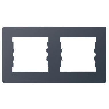 Рамка Sedna 2-постовая, горизонтальная IP44, графит Schneider Electric