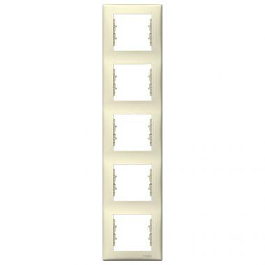Рамка Sedna 5-постовая, вертикальная, бежевый Schneider Electric