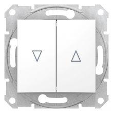Выключатель Sedna для жалюзи с электрической блокировкой, белый Schneider Electric