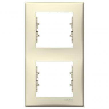 Рамка Sedna 2-постовая, вертикальная, бежевый Schneider Electric