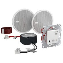Аудиосистема Unica Bluetooth (ресивер, блок питания, две колонки), белый  Schneider Electric