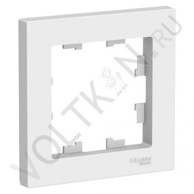 Рамка AtlasDesign 1-постовая, белый Schneider Electric