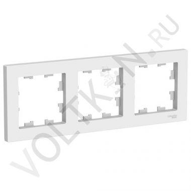 Рамка AtlasDesign 3-постовая, белый Schneider Electric