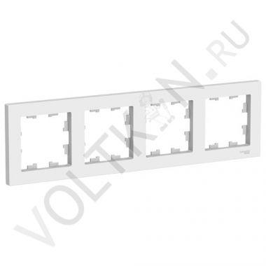 Рамка AtlasDesign 4-постовая, белый Schneider Electric