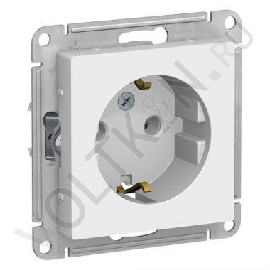 Розетка AtlasDesign с заземлением, белый Schneider Electric