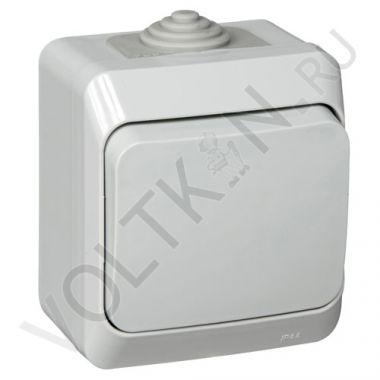 Выключатель Этюд 1-клавишный, IP44, серый Schneider Electric