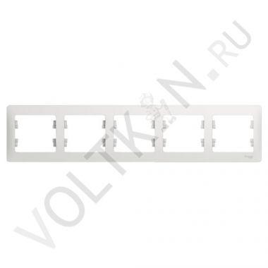 Рамка Glossa 5 пост, белый Schneider Electric