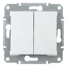Выключатель Sedna 2-клавишный, белый Schneider Electric