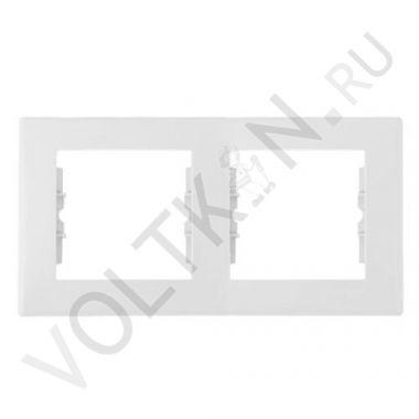 Рамка Sedna 2-постовая, горизонтальная, белый Schneider Electric
