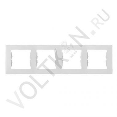 Рамка Sedna 4-постовая, горизонтальная, белый Schneider Electric