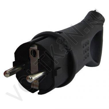 Вилка с ушком, каучук 2P+PE 16А 250В IP44 Народная TDM