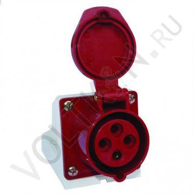Розетка стационарная наружная 124 3P+PE 32А 380В IP44 EKF PROxima