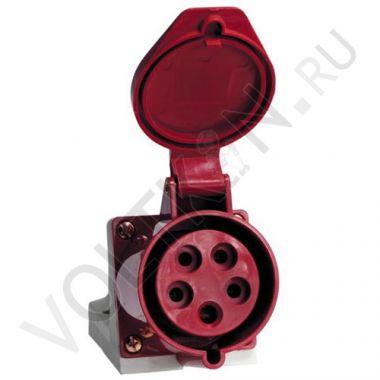 Розетка стационарная наружная 125 3P+PE+N 32А 380В IP44 EKF PROxima