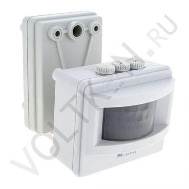 ИК Датчик движения MS-01 белый, на прожектор 1200Вт 120гр. до 12м. IP44 EKF PROxima